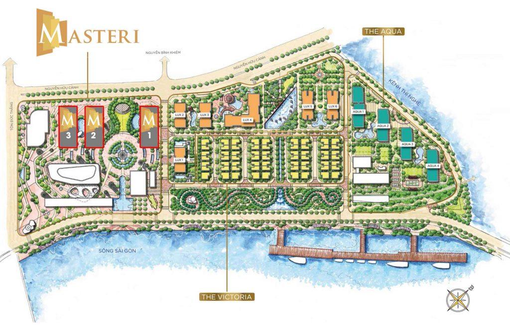 Mặt bằng căn hộ Masterise trong khu đô thị Vinhomes Golden River