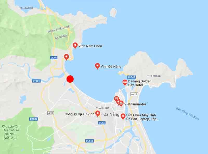Vị trí dự án Asiana Đà Nẵng