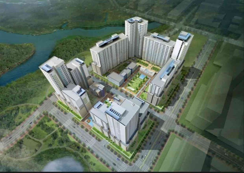 HÌnh phối cảnh khu 1570 căn hộ Bình Khánh