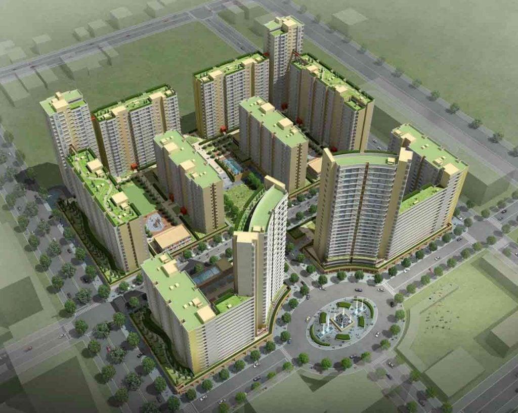 Hình phối cảnh khu 2220 căn hộ Bình Khánh