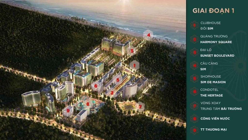 Mặt bằng giai đoạn 1 dự án Sim Island