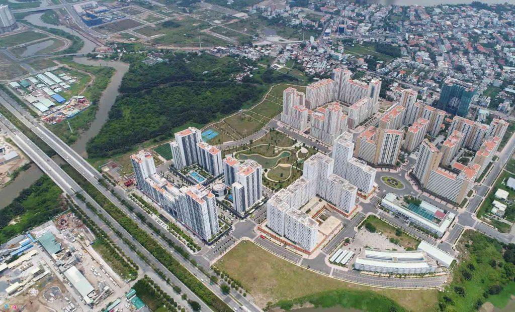 Mặt bằng khu chung cư Bình Khánh