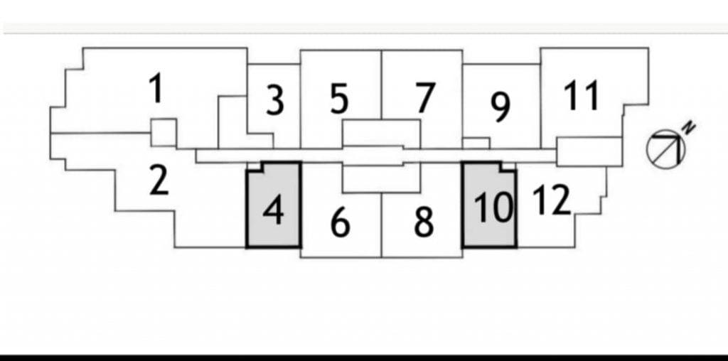 Vị trí căn hộ tầng điển hình