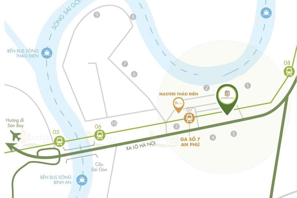 Bản đồ vị trí dự án Masterise Parkland