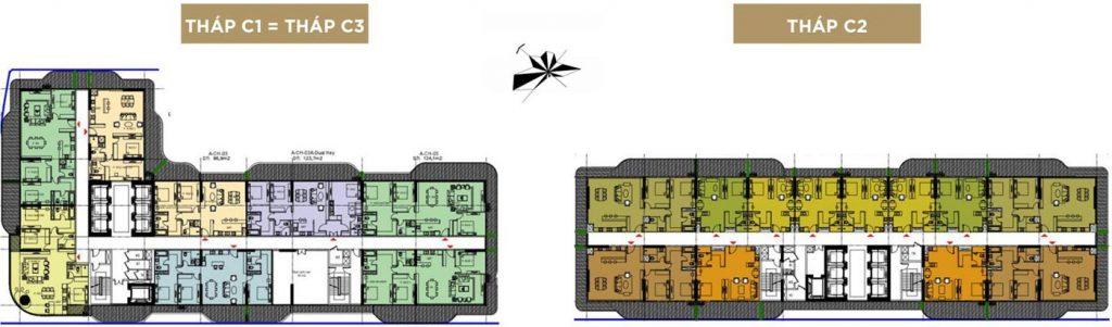 Mặt bằng tầng 13: căn hộ