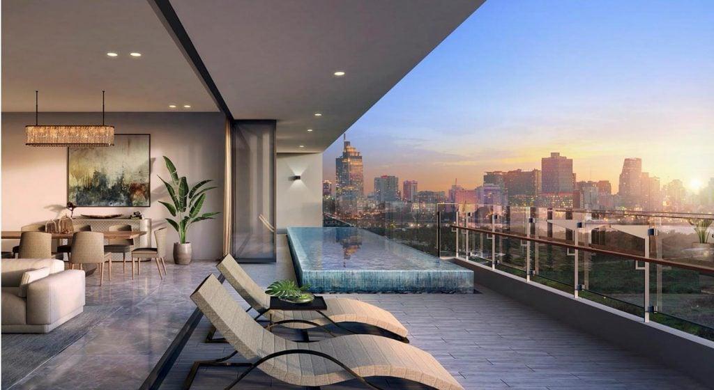 Hình minh họa biệt thự trên không (Sky Villas) do Dp Architect thiết kế