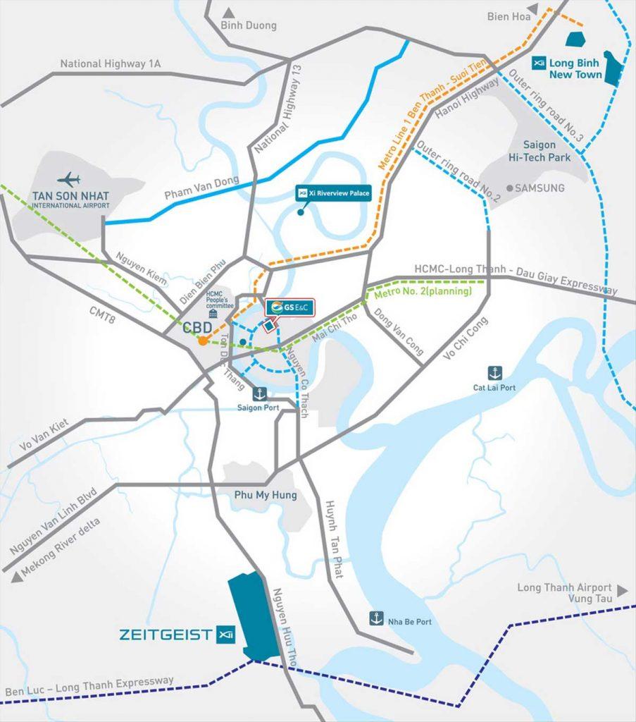 Bản đồ vị trí dự án Thủ Thiêm Zeit tại phân khu chức năng số 3 Thủ Thiêm