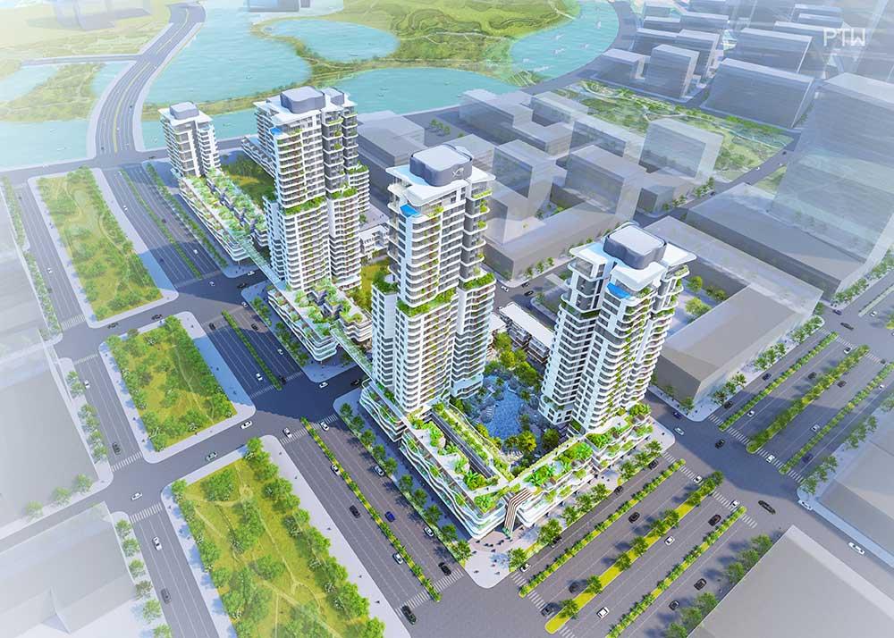 Hình phối cảnh khu căn hộ Thủ Thiêm Zeit của công ty Hàn Quốc GS E&C