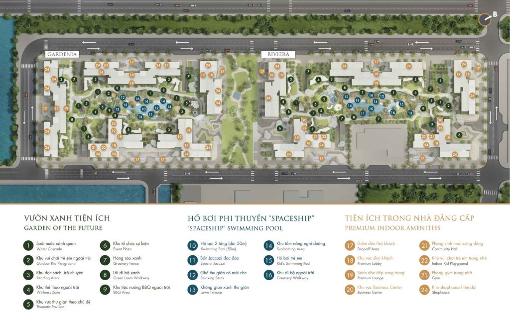 Mặt bằng tiện ích khu dân cư Masteri Centre Point