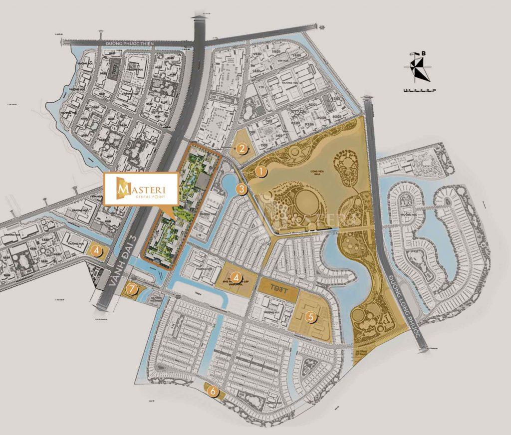 Bản đồ vị trí dự án Masteri Quận 9