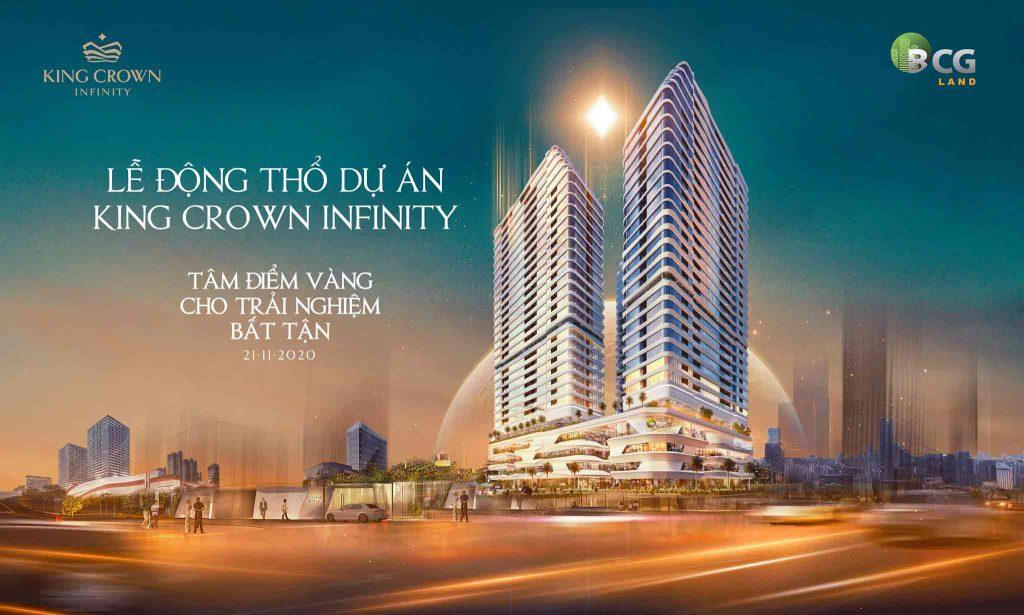 2 tòa tháp căn hộ King Crown Infinity trên đường Võ Văn Ngân thành phố Thủ Đức