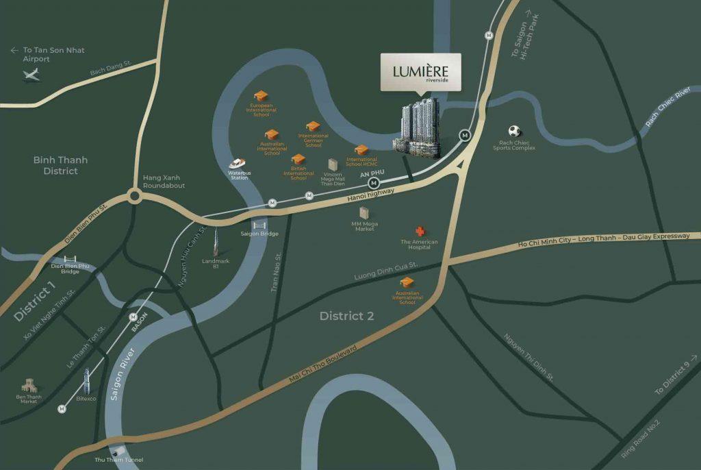 Bản đồ vị trí LUMIERE riverside