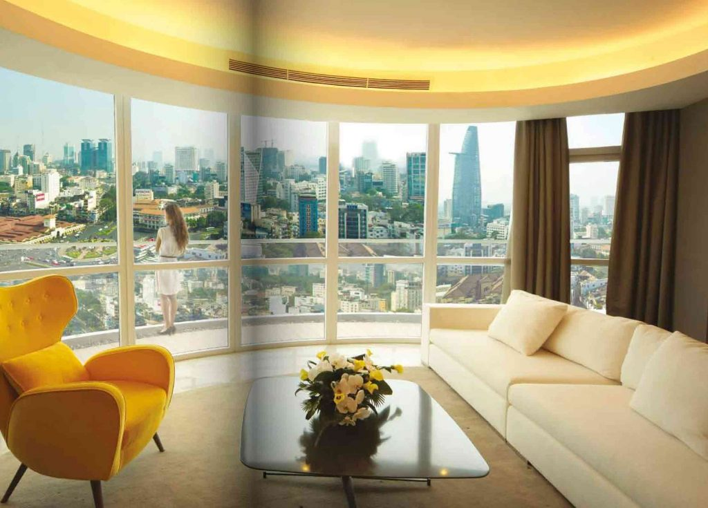 Hình minh họa phòng khách của 1 căn hộ One Central