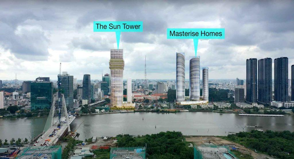 Hình mô phỏng dự án Grand Marina Saigon số 2 Tôn Đức Thắng Quận 1 của tập đoàn Masterise Group