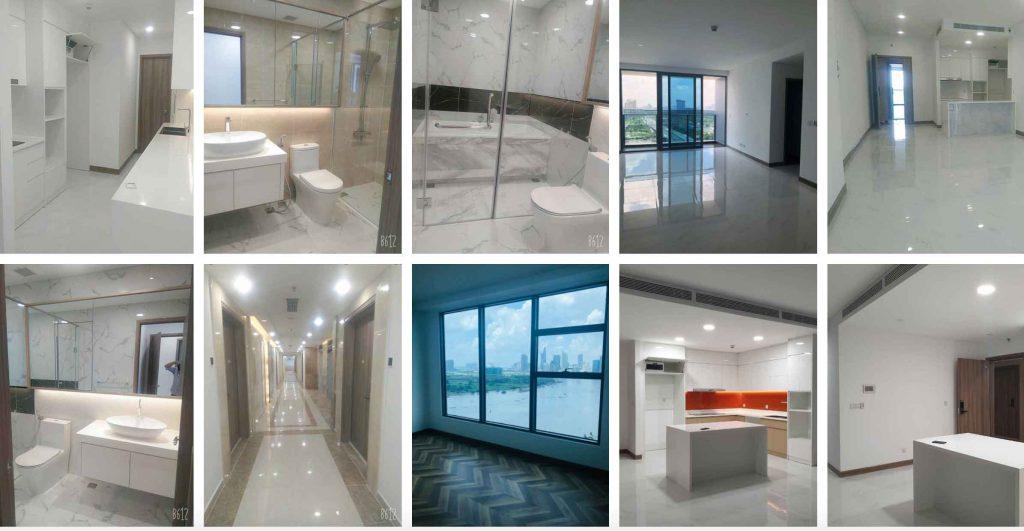 Hình ảnh nội thất căn hộ Sunwah Pearl cho thuê nhà trống