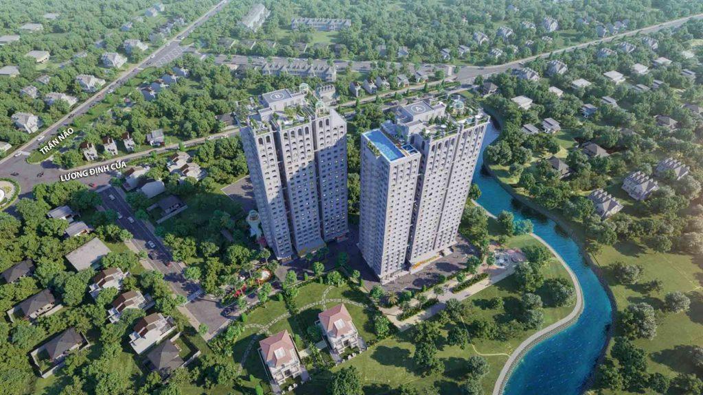 Hình phối cảnh dự án căn hộ Paris Hoàng Kim Quận 2