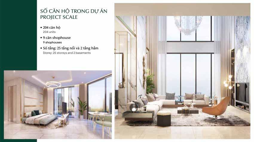 Hình minh hoạ nội thất căn hộ Thảo Điền Green