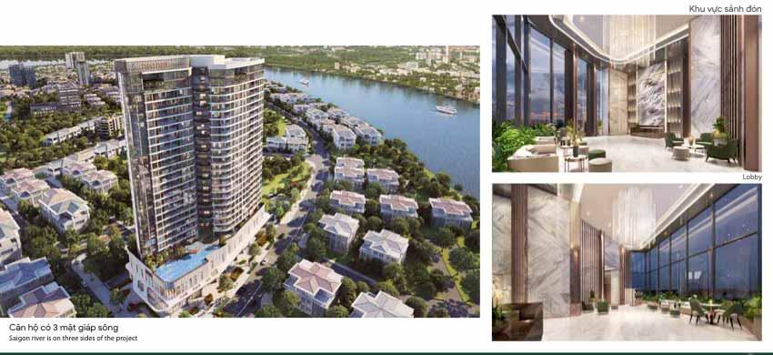 Hình phối cảnh dự án và bên trong căn hộ Thảo Điền Green